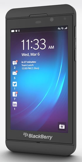 BlackBerry Q10, Z10 正式推出
